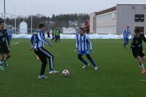 Atle Øksnes og Henning Hansen mot Bindal tidligere i år.