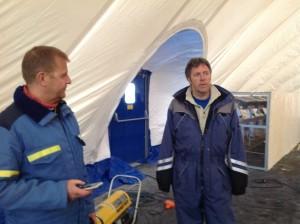 Torstein Moe og Sigbjørn Gladsø fra hallutvalget.
