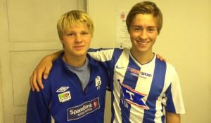 Fredrik Salhus, her med Joakim S. Halsen, er tilbake etter skade
