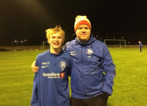 Sevald sammen med BIL-trener Alexander Ediassen