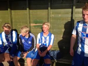 Guttespilleren Fredrik Salhus fikk sine første minutter for a-laget.