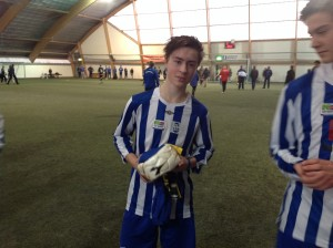 Joakim S. Halsen var guttefinalens beste spiller
