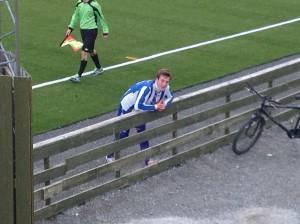 Hjemvendte Alfon Slotvik måtte ut med dobbelkrampe i leggene