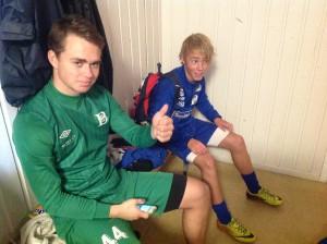 Dennis og Jørgen Sebaster fornøyd med kampen