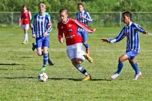Adrian og Jey mot en Namsos-spiller