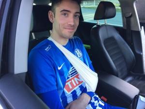 Steffen tilbake fra legevakta etter kampen